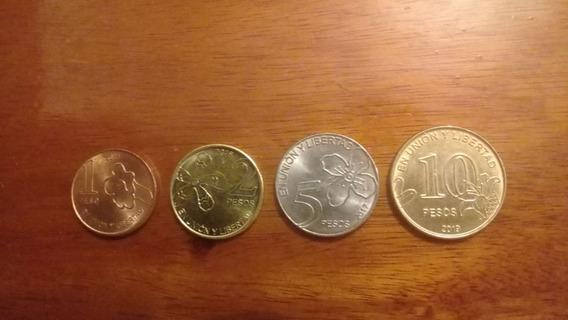 Argentina Serie Monedas 1, 2, 5 Y 10 Pesos 2017/8 Arboles