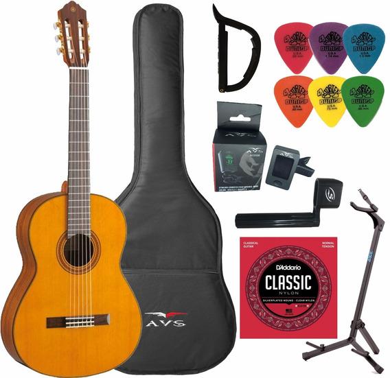 Violão Yamaha Acústico C80ll Clássico Nylon Natural + Kit