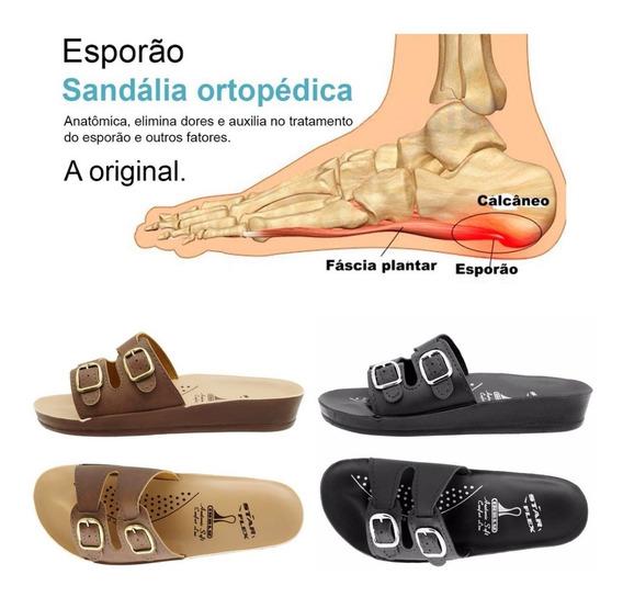 2 Pares Chinela Sandália Anatômica Ortopédica Para Esporão
