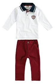 Camisa Polo E Calça Sarja Masculino Bebê Malwee Carinhoso