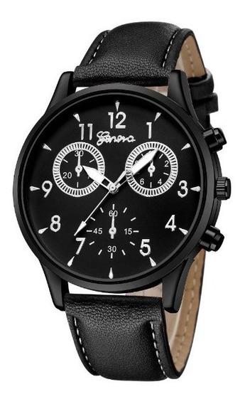 Relógio Geneva Masculino Preto