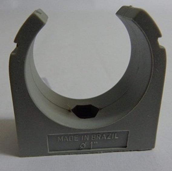 Abraçadeira Pl Para Tubo De 1 Pol. Cinza (kit C 10 Pçs)