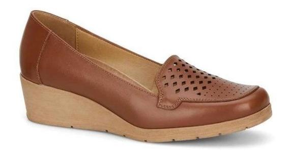 Zapato Dama Diseño Unico 100 % Piel Discreta Plataforma