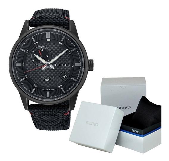 Reloj Hombre Seiko Ssa383k1 Automático Deportivo Negro