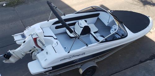 Imagen 1 de 15 de Lancha Open 3v Tango 470 Evinrude 60 Hp Ecol Nautica Milione