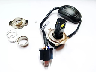 Lampada Farol Led Moto Bi-xeno H4 Baixo+alto 3000l Biz 125