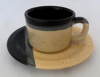 Xícara De Chá Antiga Em Cerâmica Vitrificada Decoração