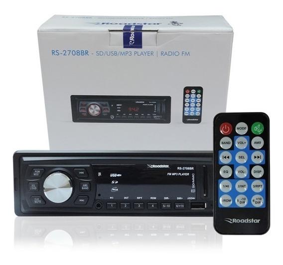 Radio Am Fm Controle Pen Drive Usb Cartão Sd+2 Auto Falantes