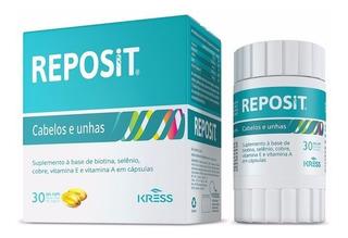 Reposit C/ 30 Cáps - Tratamento Para Cabelos E Unhas