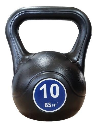 Pesas Rusas Kettlebell Plastica 10kg Fitness Mancuerna Pava