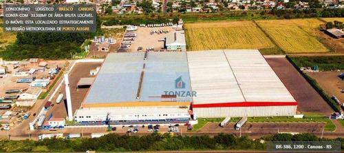 Imagem 1 de 2 de Galpão Modular Para Locação, Condomínio Fechado, São Luis, Canoas/rs. - Ga0775