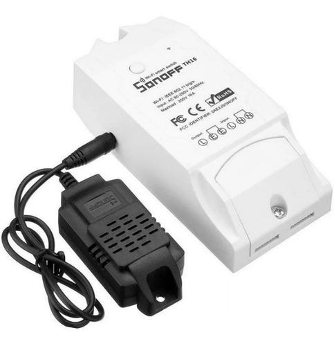 Sonoff Sensor De Temperatura Y Humedad Wifi Th16 + Sonda ®