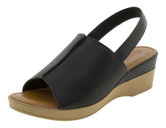 Sandália Feminina Slingback Usaflex - Ac5708 Preto