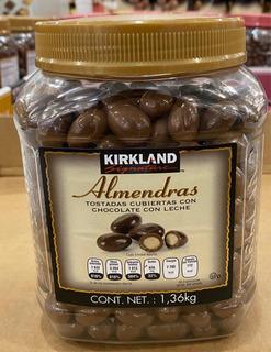 Almendras Selectas Con Chocolate 1.36 Kgs. Marca Kirkland