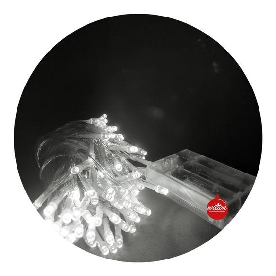Luces Led Pilas Navidad Guirnalda Decoración X 50 - Wilton