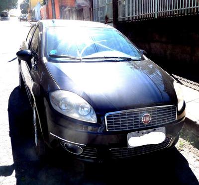 Fiat Linea Absolute Preto Interior E Banco De Couro Caramelo