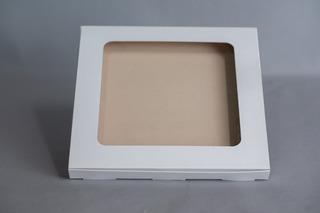 Caja Con Ventana 30x30x2,5 Cm (x 50 U.) Cookies Pañuelos Pashmina Ruana - Bauletto