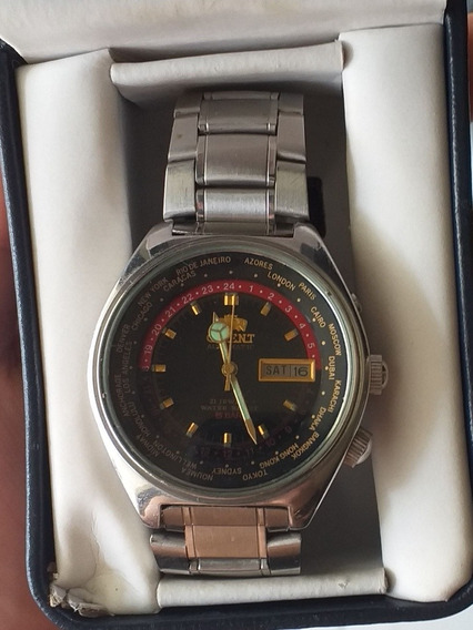 Relógio Masculino Orient Automatic World Time 469ee6-70