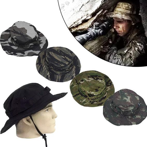 Chapéu Operacional Camuflado E Liso Hat Boonie Em Rip Stop