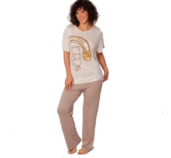 Pijama Para Mujer Winnie Pooh Pantalon Blusa Pantalon 9248