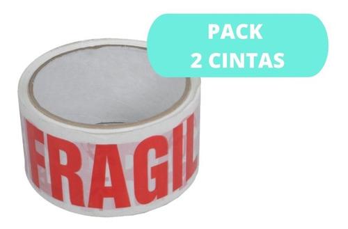 Pack 2 Cintas Fragil Cinta De Embalaje / Cart Paper