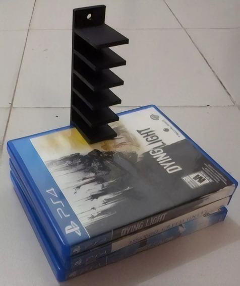 Suporte De Parede Para Jogos Ps4, Ps3 E Blu-ray Organizador