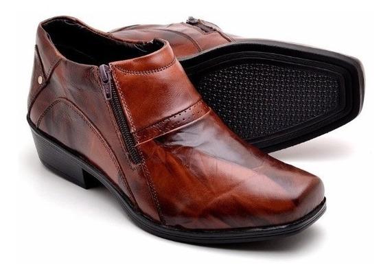 Sapato Bota Jungle Masculino Social Em 100% Couro Legitimo