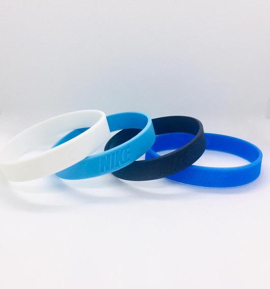 Pulseiras De Silicone Nike - 04 Unidades