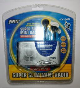 Rádio Jwin Jx-m6 Am/fm Super Slim