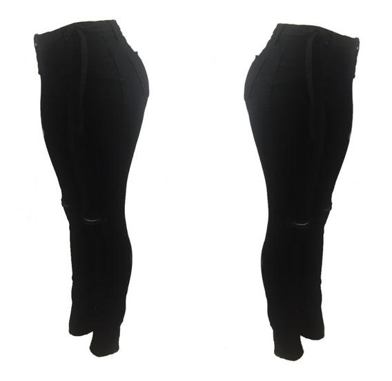 Calça Jeans Cos Alto Hot Pants Cintura Alta Empina Bumbum