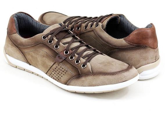 Sapato Sapatênis Masculino Casual Couro Legítimo Lancamento