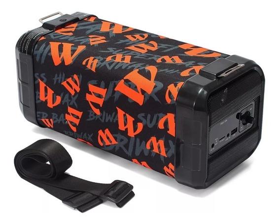 Caixa Som Amplificada Bazooka 30w Portatil Bluetooth Bateria