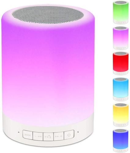 Lampara Mesa Portatil Inteligente Tactil Led Colorido Rosado