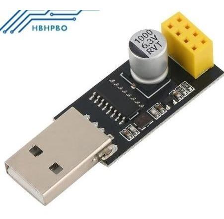 Adaptador Programador Uart Esp01 Gpio0 Esp-01 Usb Para Módul