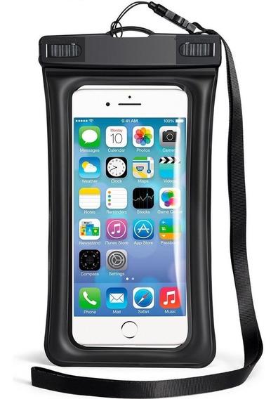 Binden Funda Protectora Ipx8 Para Celular Contra Agua Con Flotador, Compatible Para Celulares De Hasta 5.8 Pulgadas