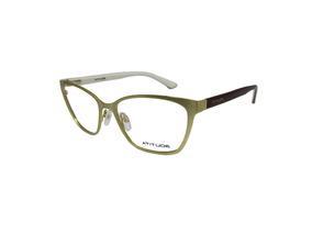 e540cf680 Armação Óculos De Grau Atitude Dourado E Vinho Feminino