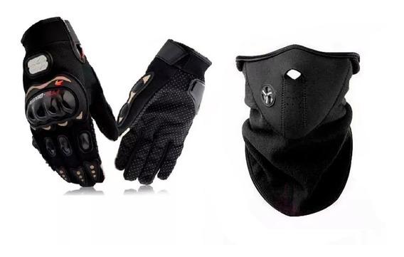 Kit Mascara Neoprene Termica + Guantes Pro Biker - Fas Motos