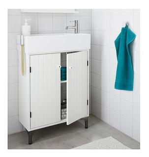 Mueble Ikea Lavabo Con 2 Puertas, Blanco
