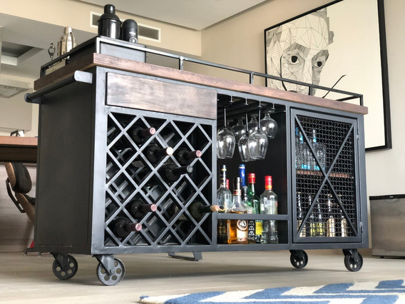 Bar Cart, Carrito De Servicio Alquimista, Barra De Alcohol