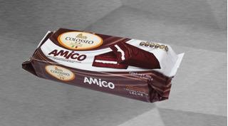 Colosseo Amico 10 Piezas Pastelito Chocolate Relleno Leche