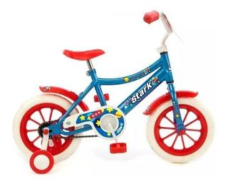 Bicicleta Niño Nena Rodado 12 Infantil Space Nene Rojo Azul