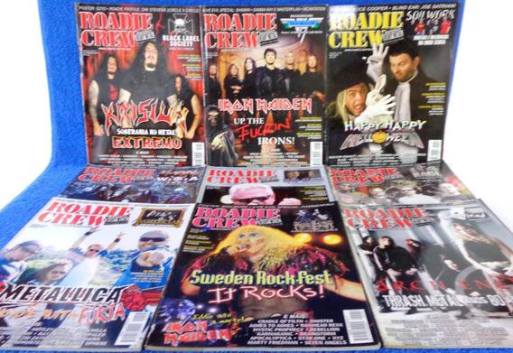 Roadie Crew 9 Revistas N°54,53,55,58,56,57,52,60,59