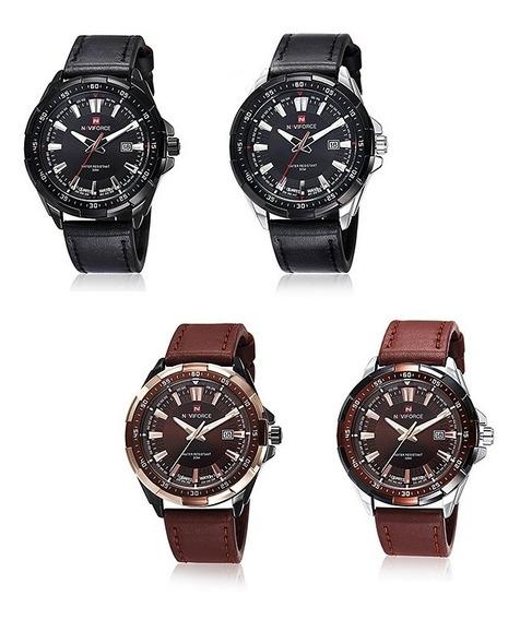 Relógio Masculino Original Quartzo Para Marca De Naviforce