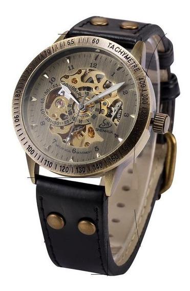 Relógio Shenhua Skeleton Mecânico Automatic