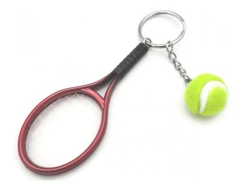 Llaveros Exclusivos Raqueta Y Pelota De Tenis Ideal Souvenir