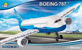 Avião Comercial Boeing 787 Com Bonecos - Blocos Para Montar