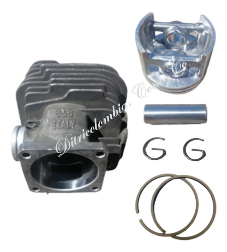 Imagen 1 de 9 de  Pisto Y Cilindro Para Motocierra Ms381