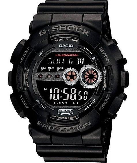 Relógio Casio G-shock Gd-100-1bdr Resistente A Choques Nf