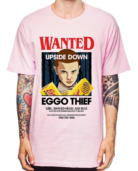 Camiseta Série Stranger Things Eleven Wanted 004