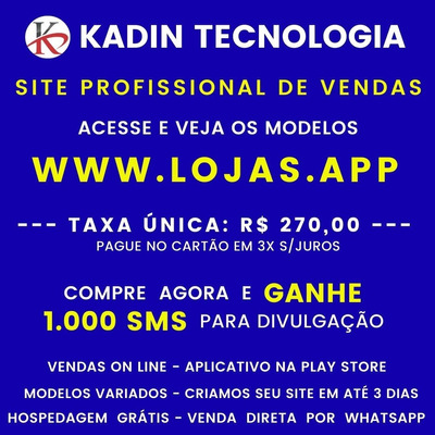 Criação De Site Profissional De Venda - App Play Store - Sms